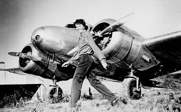 Amelia Earhart, who served as