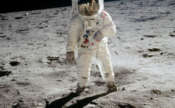 Astronaut Buzz Aldrin, lunar