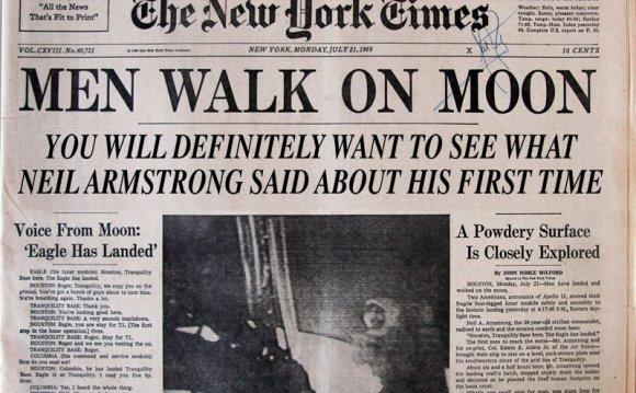 Moon walk headline