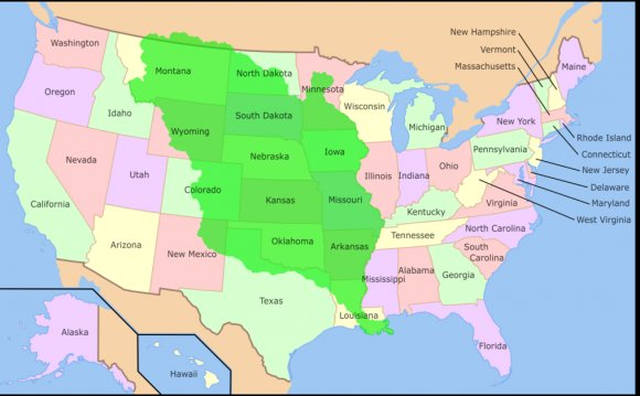 Louisiana Purchase Map, 2014