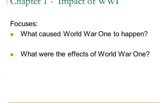 2 Did World War I change the