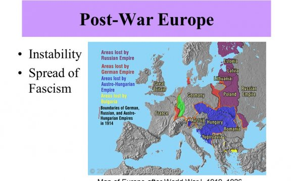 Of Fascism Map of Europe