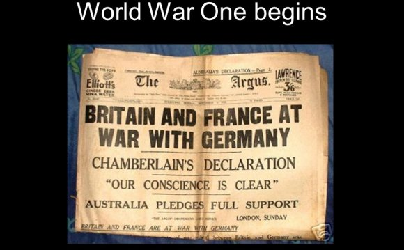 World War One begins
