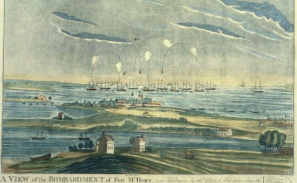 A depiction of the Bombardment