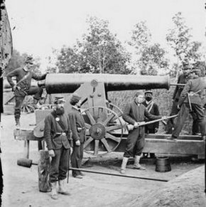 Civil War Cannon at Fort Woodbury, Virginia