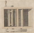 Detail from Patent Drawing for the Cotton Gin