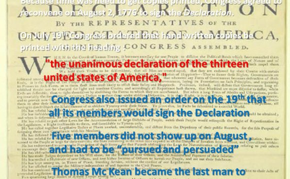 About the Declaration of Independence