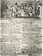 In this jubilant political cartoon from the 1760s, members of the