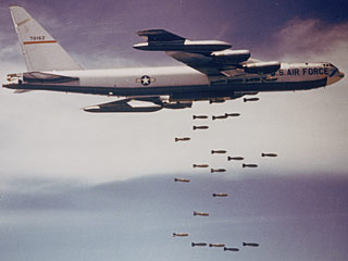 plane dropping bombs