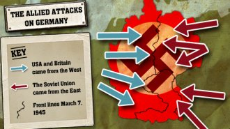 The Allied attacks on Germany.