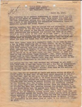 The four typewritten pages, unearthed seven decades after their origin, tell the story of a young U.S. Navy man towards the end of World War II in vivid detail.