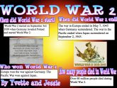 Five Facts about World War 2