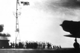 torpedo plane takes off from shokaku to attack pearl harbor