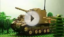 1944 Lego World War Two Tank Battle in Normandy: Sherman