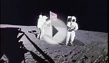 Apollo 14 Lunar Landing & US Flag on Moon (1972)